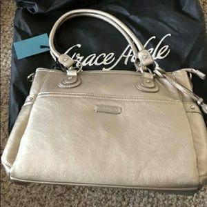 Grace Adele Gold Clutch Purse